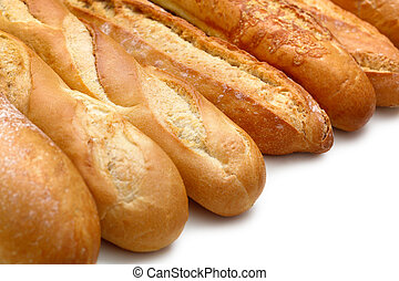 Baguette - Photo of a Baguette on white background