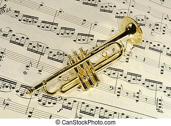 Photo of a Brass Trumpet