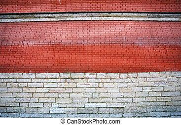 Photo of a brick big wall