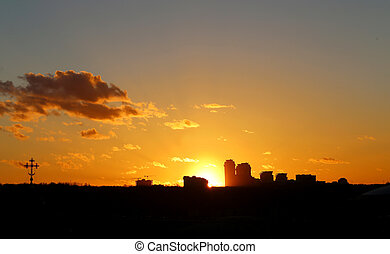 Photo of a bright sunset