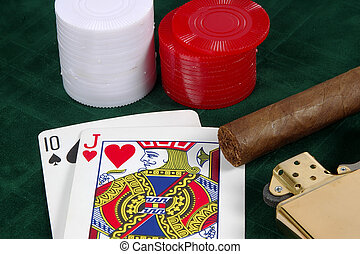 Photo of a Card Game.