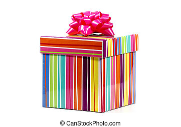 Striped Giftbox - Photo of a Colorful Striped Giftbox
