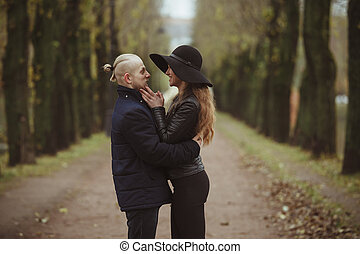 photo of a couple in the park