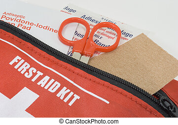 First Aid Kit - Photo of a First Aid Kit - Medical Related