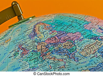 Europe - Photo of a Globe with Emphasis on Europe