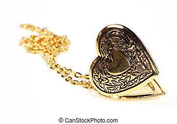 Photo of a Gold Heart Locket