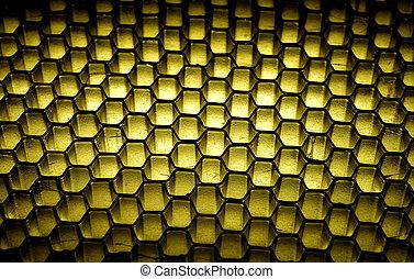 Honeycomb Background - Photo of a Grid / Honeycomb...