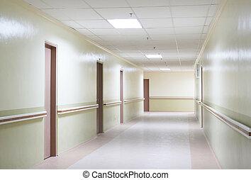 Hallway - Photo of a Hospital Hallway