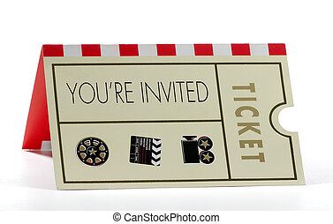 Invitation - Photo of a Invitation to an Event - Event...