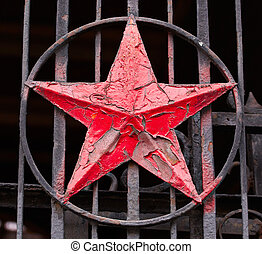 Red Star Socialist - Photo of a iron Red Star Socialist