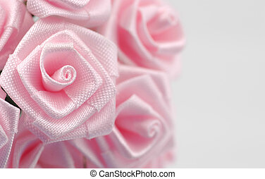 Fabric Flower - Photo of a Pink Fabric Flower