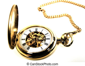 Photo of a Pocket Watch With Color, Grain and Blur Effect.