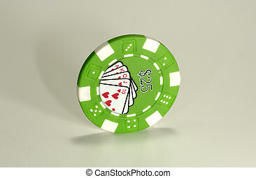 Photo of a Poker Chip With Harsh Lighting