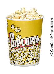 Popcorn - Photo of a Popcorm Bucket with Popcorn - Snack