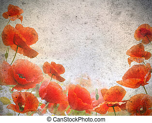 flowers on a grunge background