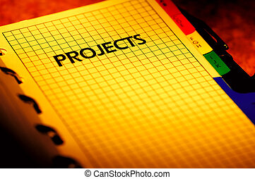 Photo of a Project Planner