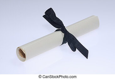 Diploma - Photo of a Rolled Up Diploma / Scroll