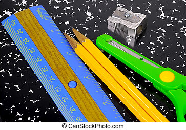School Supplies - Photo of a Ruler, Pencil, Notebook and a ...