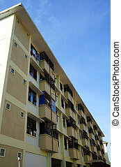 sturdy flat building outside view - photo of a sturdy flat...