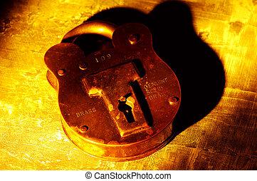 Vintage Brass Lock