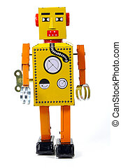 Vintage Robot Toy - Photo of a Vintage Robot Toy