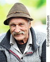 Photo of Aged Man With Hat, Outside