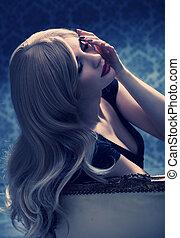 Photo of an elegant blond girl