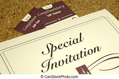 Invitation - Photo of an Invitation and 2 Tickets - Party...