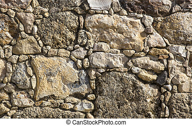 Photo of an old brick wall close up shot
