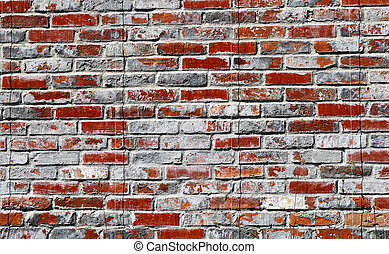 Photo of an old brick wall