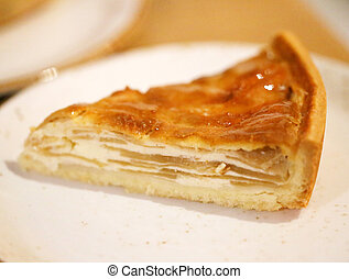 Photo of apple apple pie in a cafe