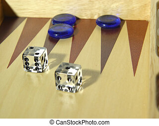 Photo of Backgammon Board and Dice