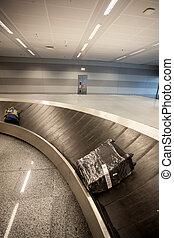 baggage claim line in airport terminal