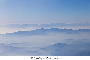 Photo of beautiful landscape with mountains