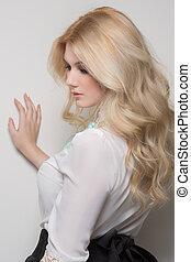 beautiful woman with blond hair - Photo of beautiful woman...