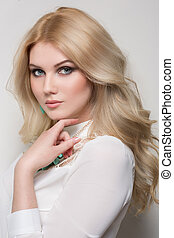 beautiful woman with blond hair - Photo of beautiful woman...