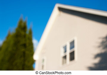 Photo of blurred cottage house