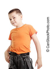 Photo of boy in orange