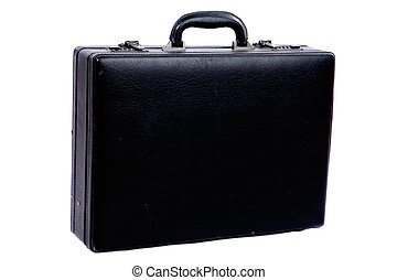 Photo of briefcase on a over white background