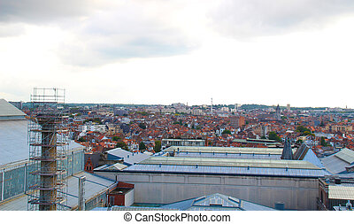 Brussels roof top view.