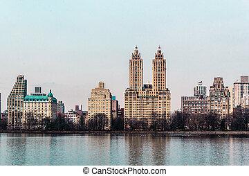 Buildings near Central Park in Manhattan, New York City