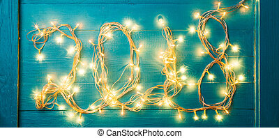 Photo of burning garland in form of number 2018