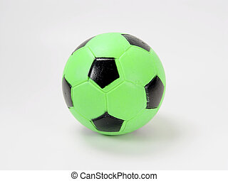 Green Soccer Ball - Photo of Childs Green Soccer Ball