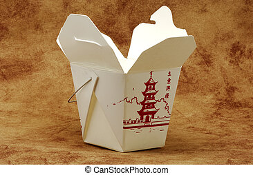 Takeout Carton - Photo of Chinese Food Takeout Carton