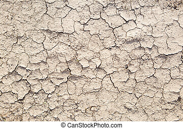 Photo of cracked dry earth