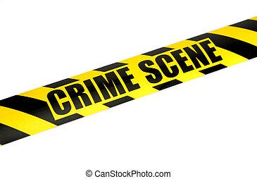 Crime Scene - Photo of Crime Scene Tape - Law Related -...