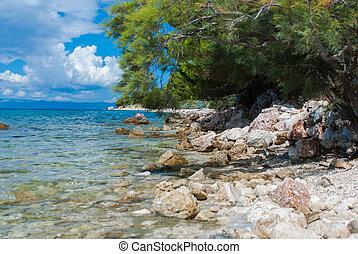 Croatian beach, Makarska Riviera