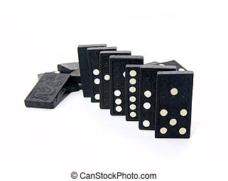 Dominoes Lined Up