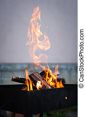 Photo of empty barbecue fire grill