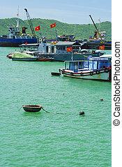 Photo of fishing boats on the sea, Vietnam